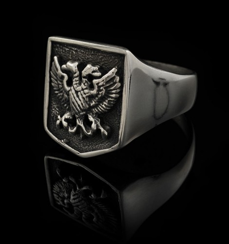 Two-Headed Eagle Biker Ring