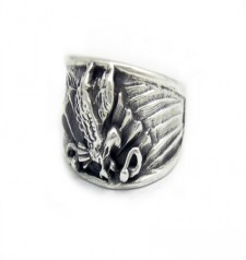 Sterling Silver American Eagle Glory Ring