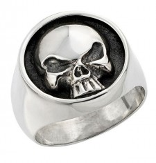 Solid Skull Biker Ring