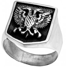 Sterling Silver Two-Headed Eagle Ring