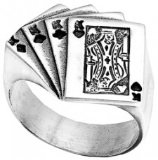 Sterling Silver Four Kings Ring
