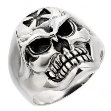 Sterling Silver Wicked Skull Biker Ring