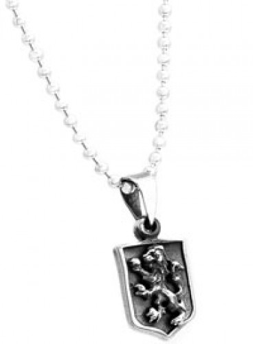 Sterling Silver Lion Crest Necklace