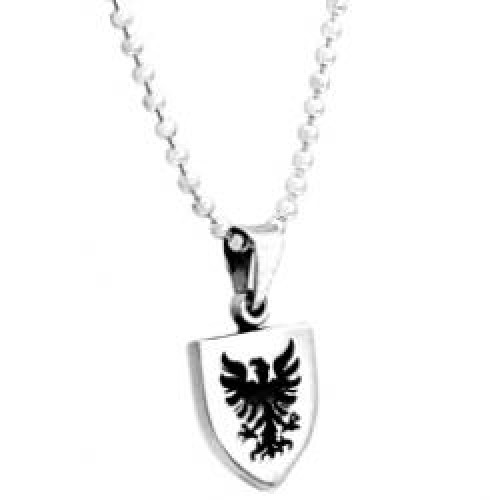 Sterling Silver Eagle Shield Necklace