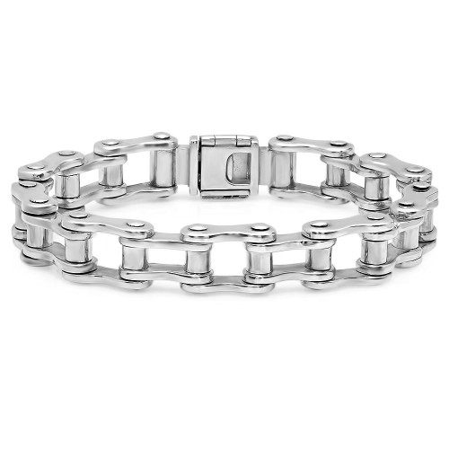 Large Motorcycle Chain Link Bracelet