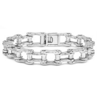 Medium Motorcycle Chain Link Bracelet