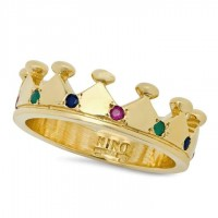Small Gold Crown Ring