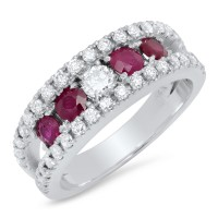 Diamonds and Rubies Ring