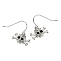 Skull  CZ Earrings