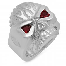 Skull Flames Hefty Ring