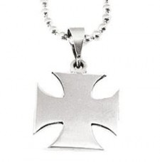 Sterling Silver Bold Maltese Cross