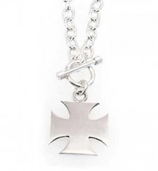 Sterling Silver Maltese Cross Necklace