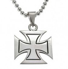 Sterling Silver Maltese Cross Pendant