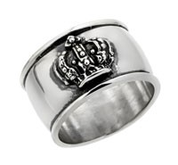 Sterling Silver Small Crown Band Ring