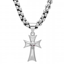 Chain Cross and Skull Set