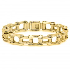 Medium 14K Gold Motorcycle Link Bracelet