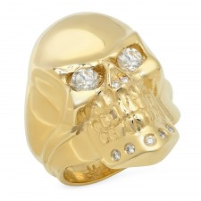 Rock Star 14K Gold Skull Ring
