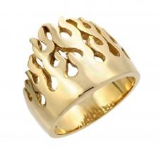 Small Gold Flame Ring