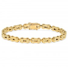 Small 14K Gold Motorcycle Link Bracelet