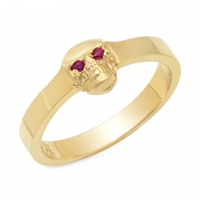 Small 14K Gold Skull Ring