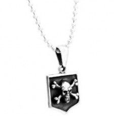 Sterling sIlver Cross Bone and Skull
