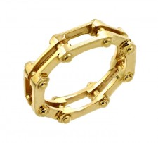 14K Gold Motorcycle Chain Link Ring