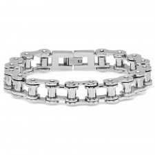 Medium Stainless Motorcycle Chain Link Bracelet