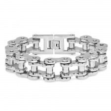 XL Stainless Steel Motorcycle Chain Link Bracelet