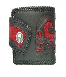 Skull Leather And Stingray Wallet