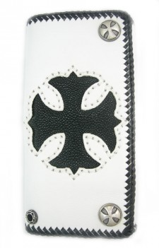 White Leather And Stingray Wallet