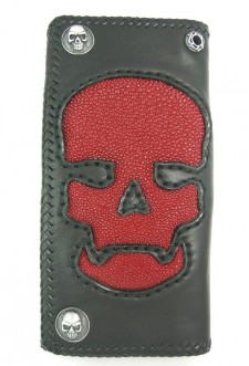 Large Skull Stingray Wallet