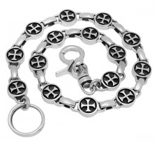 Sterling Silver Templar Cross Wallet Chain (LIMITED EDITION)